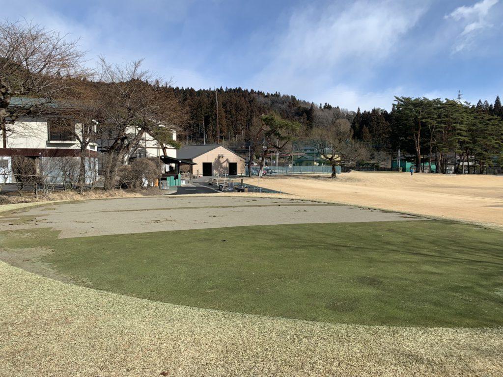 2020.02.23 練習場脇にあったパッティング練習グリーン この場所に練習場管理小屋を新設します