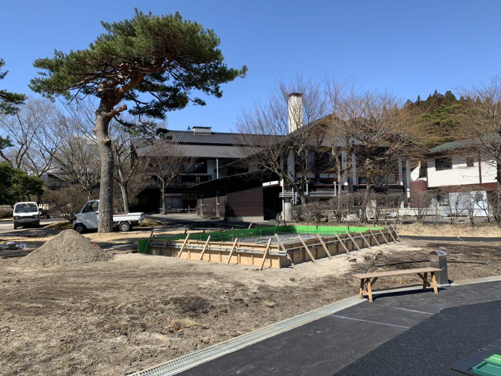2020.03.18 新設小屋の基礎工事がはじまりました